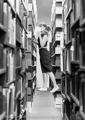 Colleen Quigley in the QEII Library.