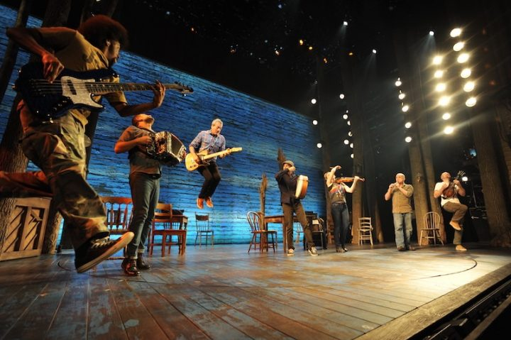 The Come From Away band performing in Toronto, Ont. Mr. Di Nillo is fourth from the left.