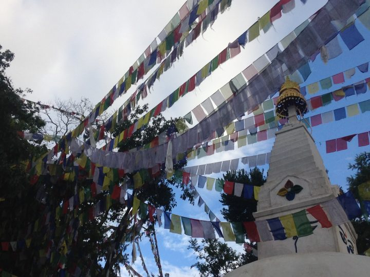 Prayer flags at a Kathmandu temple.