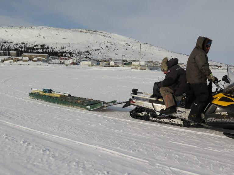 Development trials of the SmartQAMUTIK on the sea ice off Nain (Nunatsiavut).