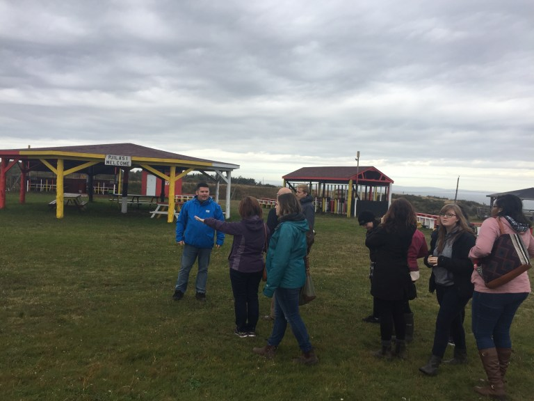 Grenfell business students visit the powwow grounds in Flat Bay.