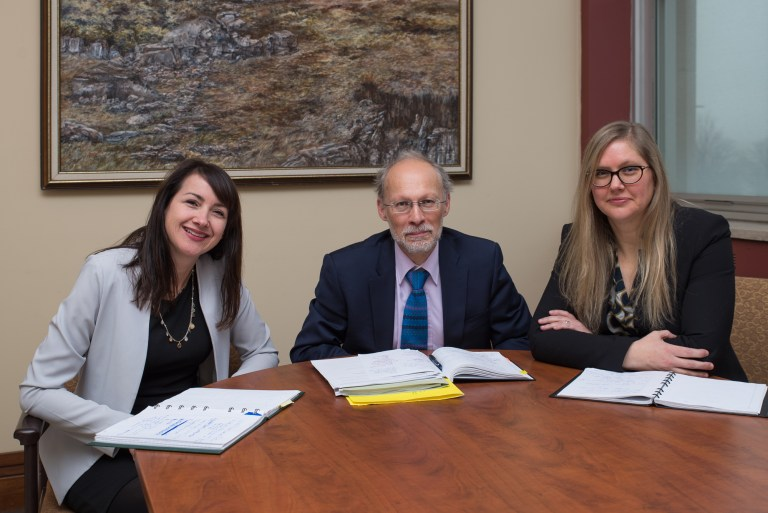 From left are Tina Hickey, Dr. Neil Bose and Dr. Marlies Rise.