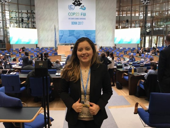 Perla Hernandez at the United Nations' climate change negotiations in Bonn, Germany, last fall.