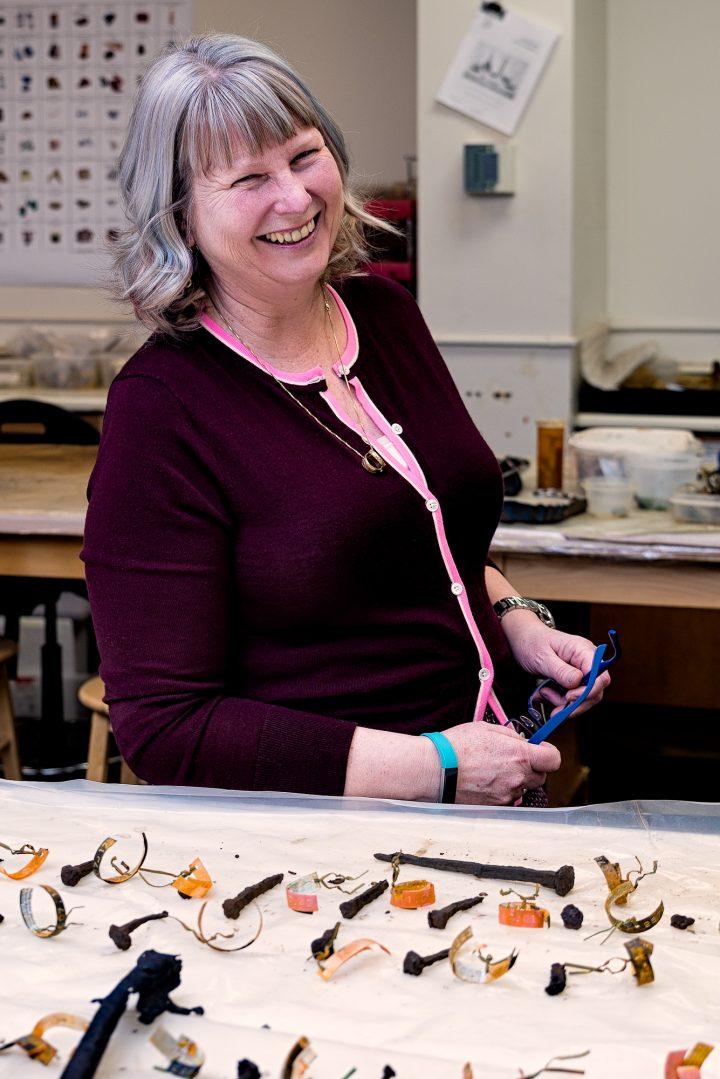 Dr. Lisa Rankin in her Queen's College laboratory.