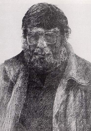 Gerald Squires' lithograph of Al Pittman