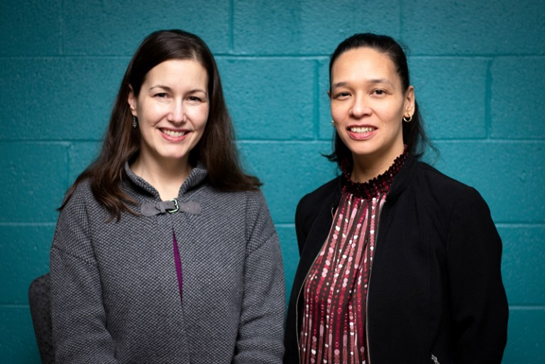 Dr. Natalie Slawinski, left, and Nicole Helwig have been named Fellows of Social Innovation by the University of Cambridge.