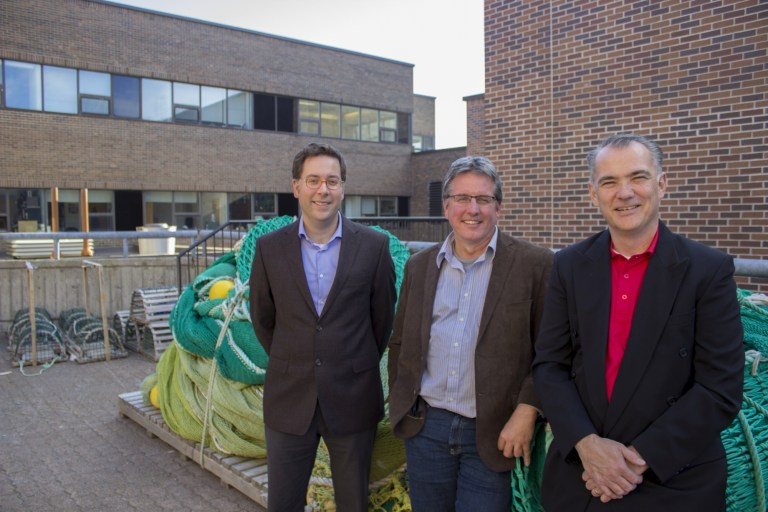 From left, Drs. Jonathan Fisher; Noel Cadigan; and Paul Winger.