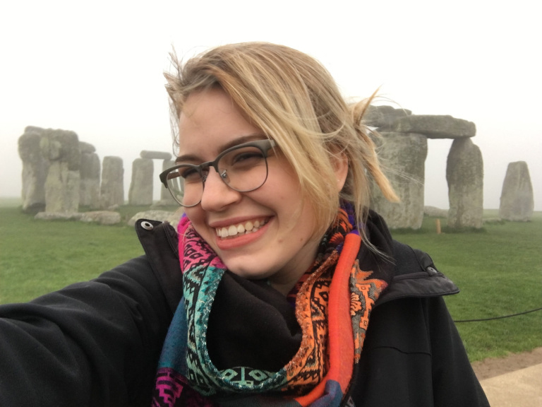 The author at the Stonehenge site in England this semester.