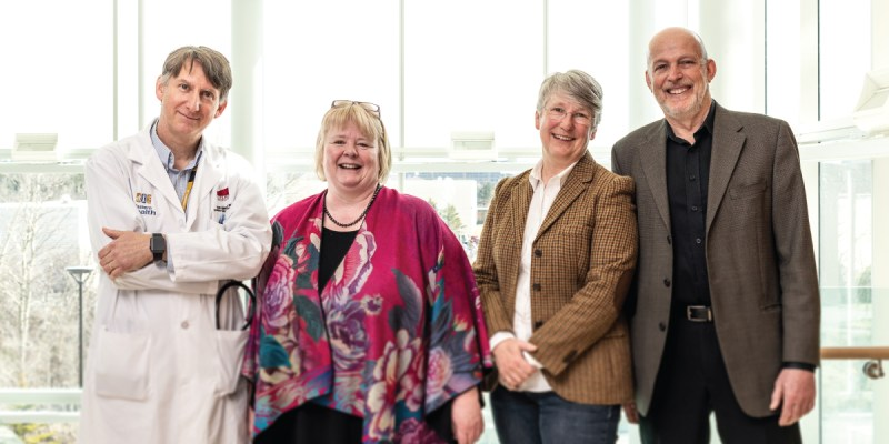 From left Drs. Sean Connors, Kathy Hodgkinson, Terry-Lynn Young and Daryl Pullman.