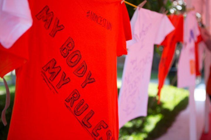 Consent Clothesline created at Welcome Week 2017
