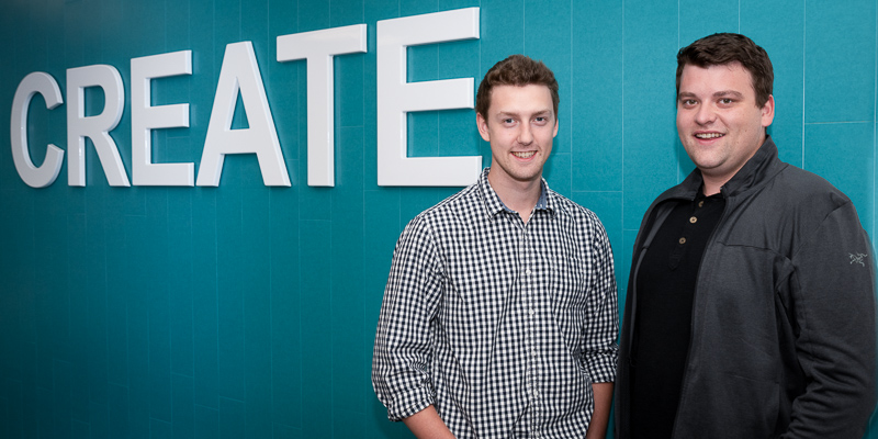 Brett Vokey, left, and Duncan Wallace will represent Memorial at the University Startup World Cup.