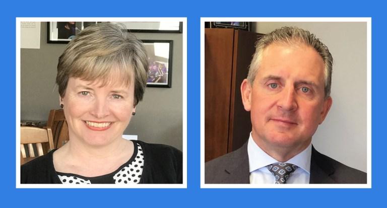 Left: Lisa Browne. Right: Ken Bennett.