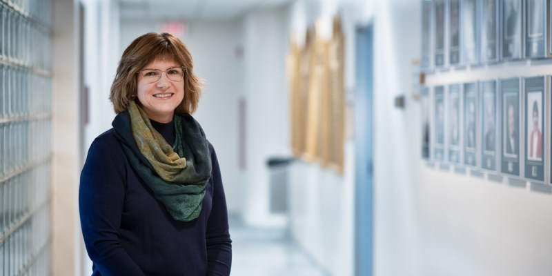 Dr. Kara Arnold, pictured at the Faculty of Business Administration in St. John's, researches leadership and diversity in the workplace.