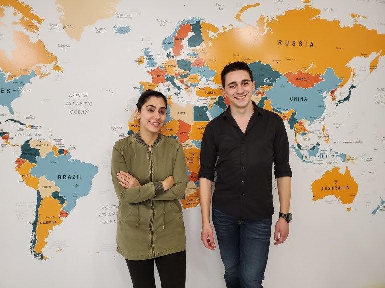 From left are Nabila Qureshi and Husam Basemah, co-chairs of the local WUSC-MUN chapter.