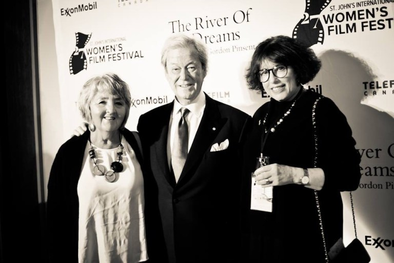 Barbara Doran, Noreen Golfman and Dr. Gordon Pinsent