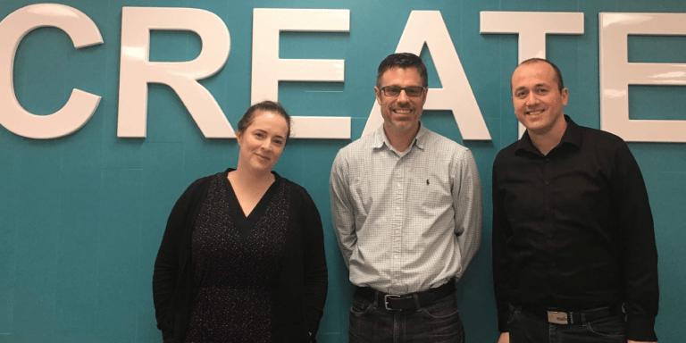 The MUN MCE Team from left are Elyse Summers, community and marketing co-ordinator; Jason Trask, programs catalyst; and Florian Villaumé, director.