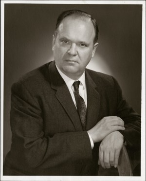 A 1967 photo of Ewart A. Pratt, who was the President of the St. John's Board of Trade at the time.