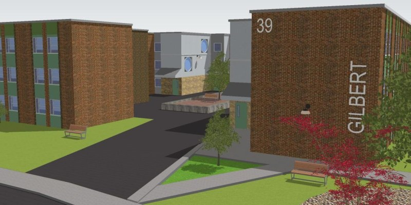 Rendering of the exterior of Burtons Pond apartments