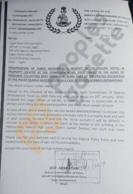 Abba Kyari Document