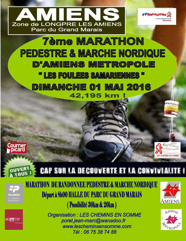 foulées affiche-7eme-marathon-pedestre-d-amiens-metropole-2016