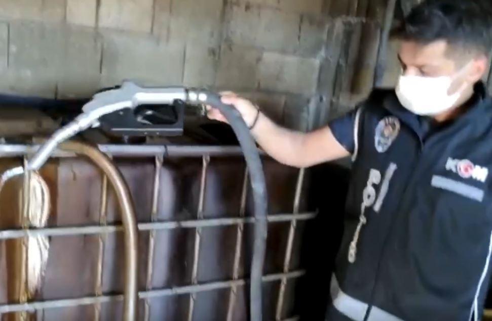 Gaziantep'te bin litre kaçak akaryakıt ele geçirildi