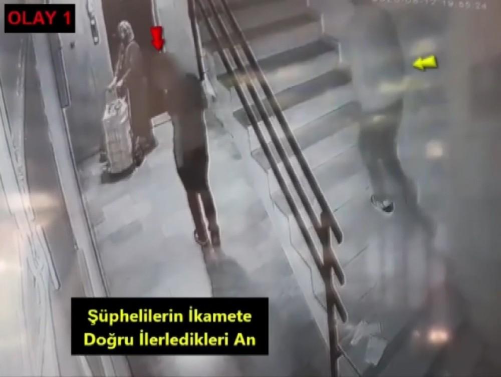 Önce kameralara yakalandı sonra polise