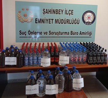 240 litre kaçak alkol ele geçirildi
