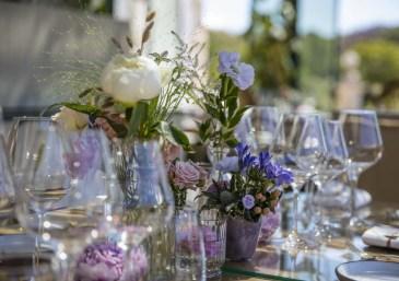 Deco fleurs terrasse