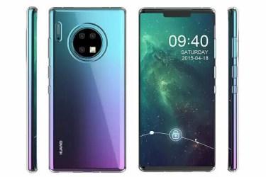 画面占有率はほぼ100%に。Huawei Mate30 Proの精細なレンダリング画像が公開に。