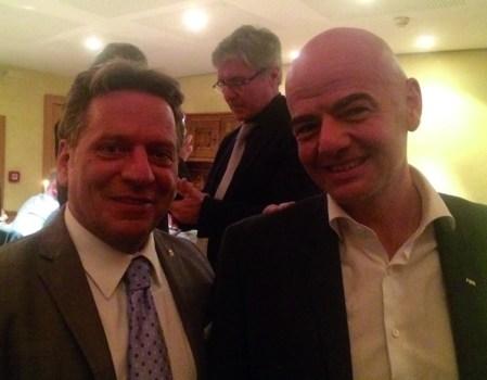 Il Presidente Fifa Gianni Infantino all'80º Congresso del Collegamento?