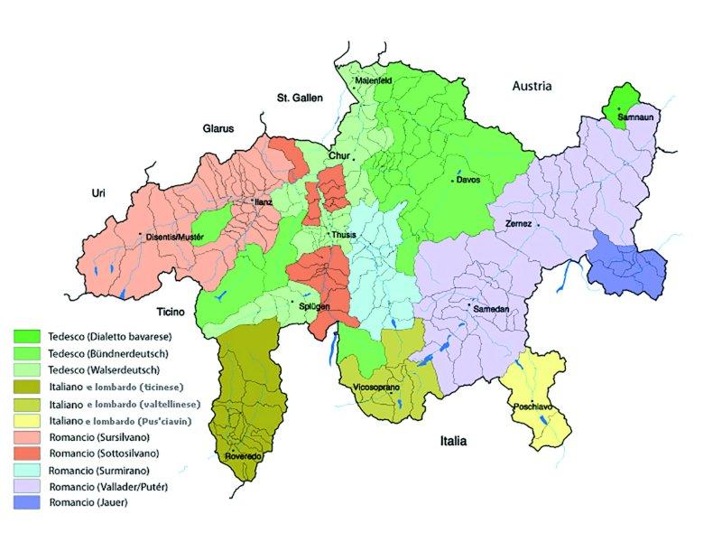 Le lingue e i dialetti parlati nei Grigioni
