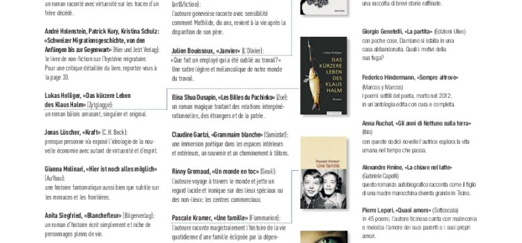 Libri svizzeri attualmente consigliati