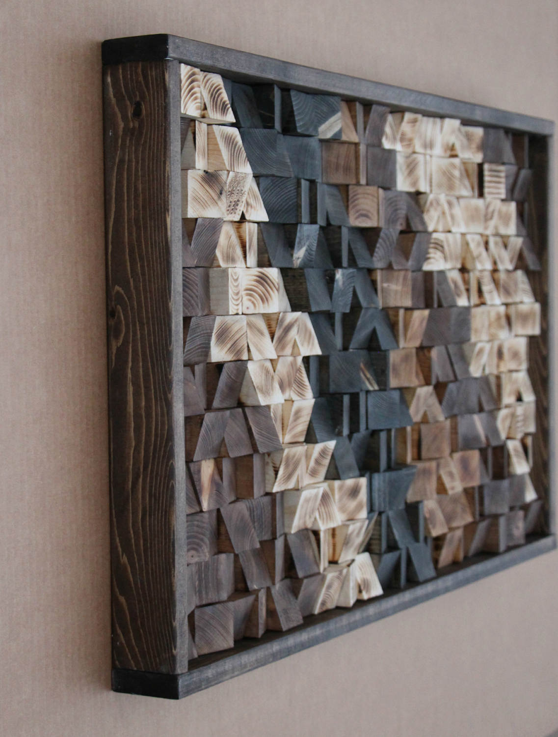 Buy Large Reclaimed Wood Wall Art Wood Wall Decor Headboard Geometric Pattern Wood Mosaic Geometric Art 17x30 Gbandwood Wooden Wall Art Wood Wall Decor Wooden Wall Decor Modern Wall Art
