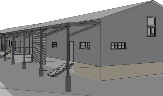 Cerrillos Road Warehouse design plan