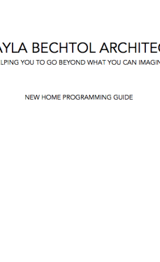 New Home Programming Guide