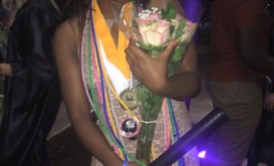 Female Student Celebrate