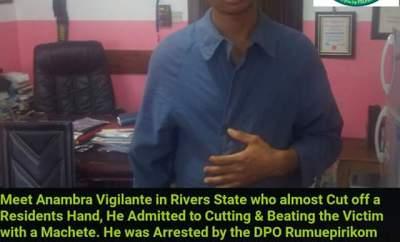Vigilante member arrested i