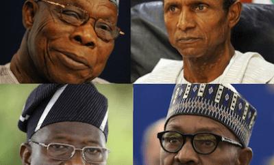 'Obasanjo, Yar'Adua, Jonathan, Buhari