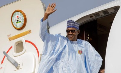 Buhari President returns to Nigeria after EU-AU summit in Cote d'Ivoire
