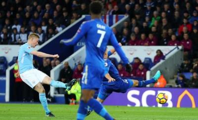 Kevin de Bruyne Scores Stunning Goal As Manchester City Beat Leicester City