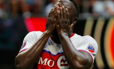 Toronto FC advanced to Major League Soccer's Eastern Conference finals despite a 1-0 home loss Sunday to the New York Red Bulls in a playoff matchup marred by a half-time scuffle.