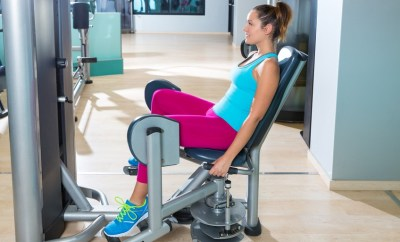 seated thigh machines at the gym