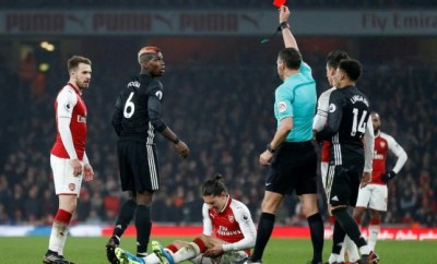 Pogba sees red over Koscielny reaction to dismissal