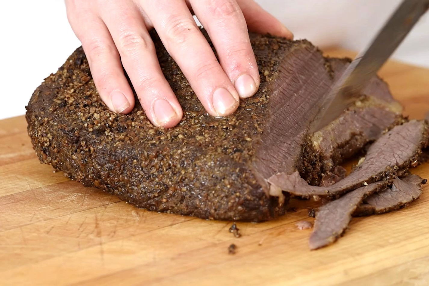 hight resolution of how to make pastrami