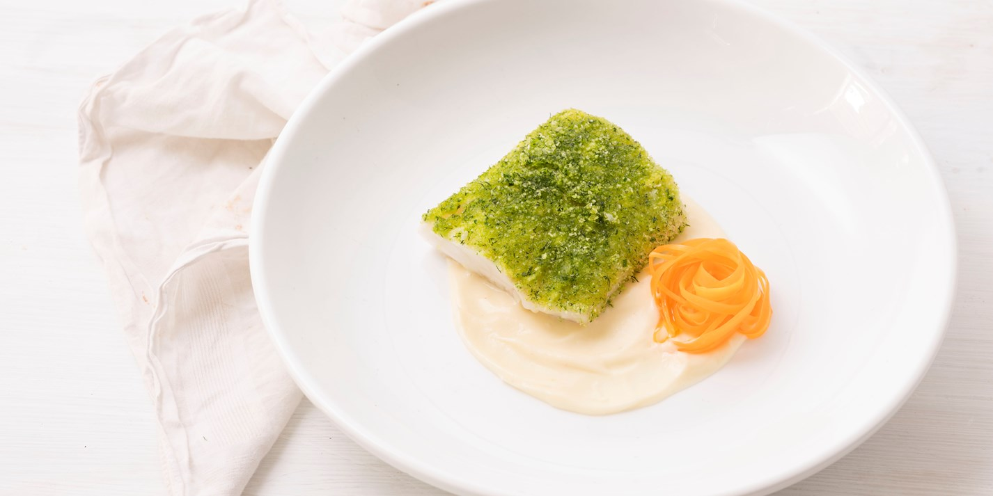 Herb Crusted Cod Recipe With Parsnip Pur 233 E Great British