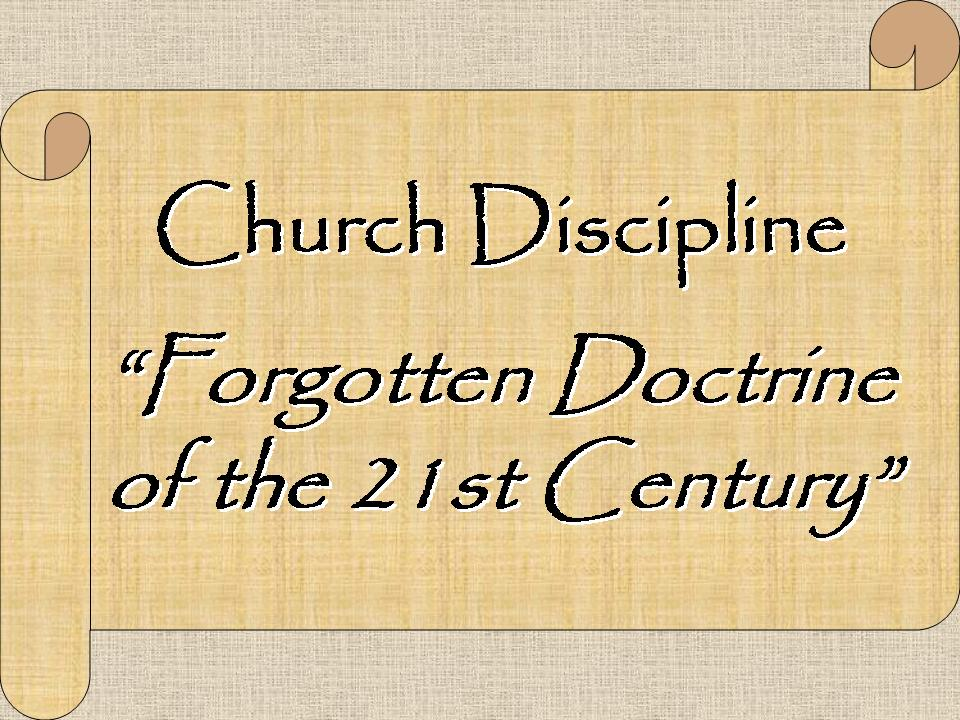 Image result for image of church discipline