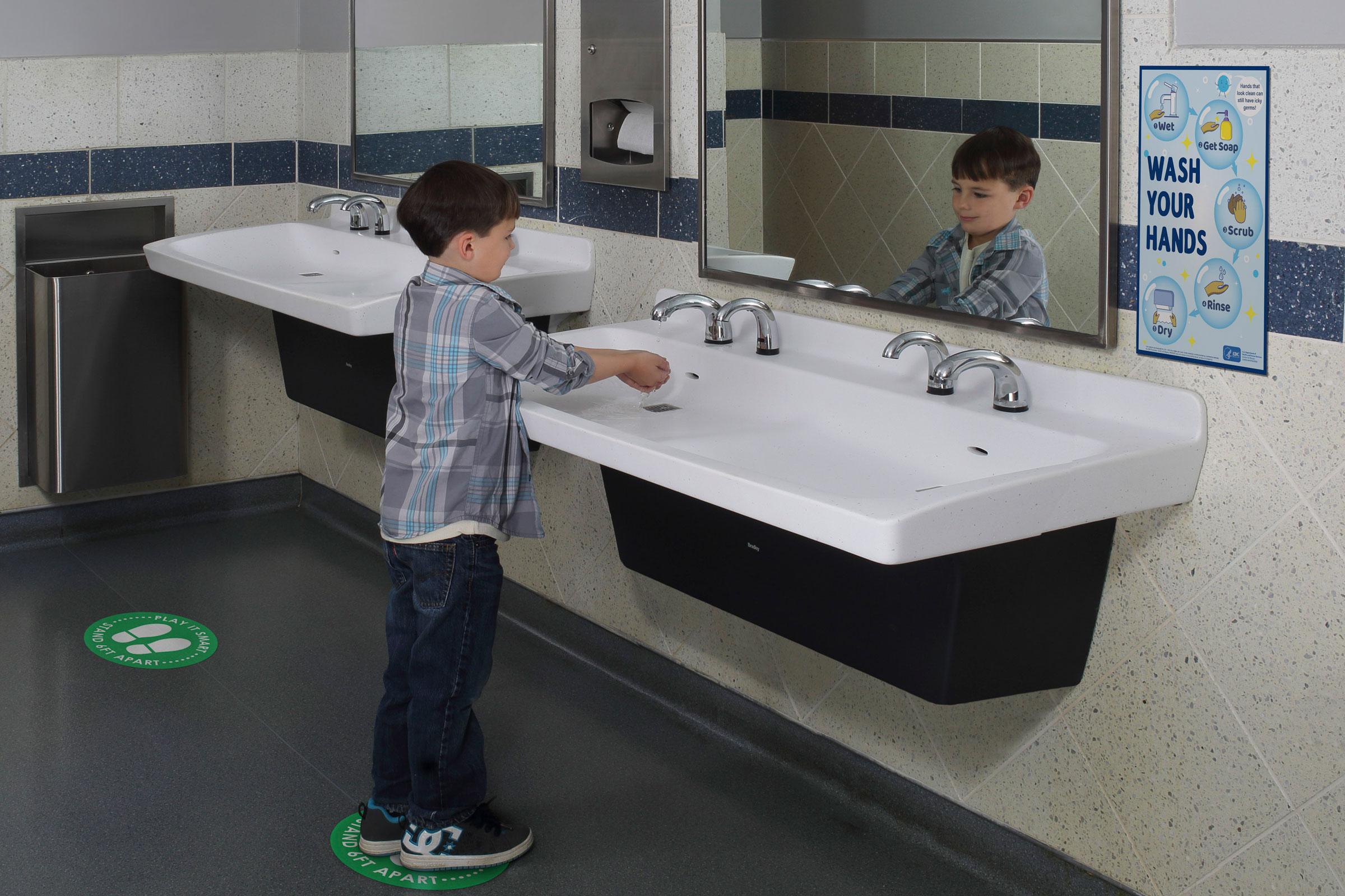 bradley is making hands free bathroom
