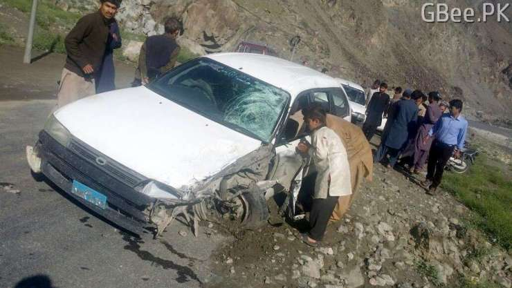 Accident on Ghizer road in Baseen, Gilgit