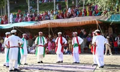 Hunza boys performing Api Cso Nut in Karimabad Hunza