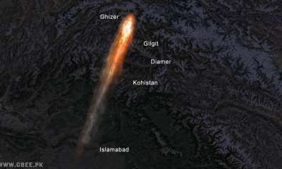 Meteor Sighting in three districts of Gilgit-Baltistan